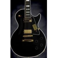 Cheap Gibson Custom Les Paul Custom Electro Acoustic Guitar Ebony With Gold Hardware for sale