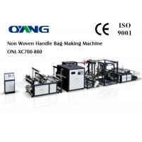 CE Certification Non Woven Bag Manufacturing Machine With Handle