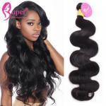 Cheap Natural Unprocessed Brazilian Virgin Hair Body Wave Super Double Drawn for sale