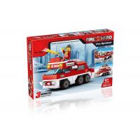 Cheap Mini Fire Rescue DIY Building Blocks Educational Toys Convertable 3 Styles 220Pcs for sale