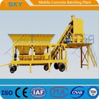 Cheap Accurate Weighing HZS35 Mobile Concrete Batching Plant for sale