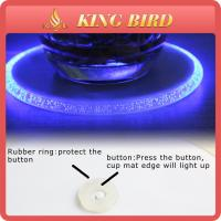 Cheap Home Decoration Round LED Plastic Beer Glass Coaster For Bar for sale