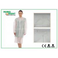 Cheap Hospital Surgical Lab Coats / White Lab Coat For Women , MP Tyvek Materials for sale