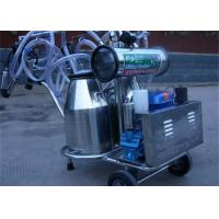 Cheap Diesel Engine Double Bucket Cow Milking Machine With Electric Motor / Pulsator for sale