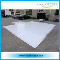 Cheap Portable laminate high gloss white dance floor for events for sale
