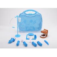 Cheap 12 Pcs Toddler Pet Doctor Role Play Set , Pretend Toy Medical Bag Non Toxic for sale