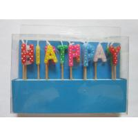 Multi Colour Happy Birthday Toothpick Letter Cake Candles Stick Shape With Polka Dots Manufactures