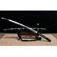 Cheap handmade japanese swords with leather saya SS015 for sale