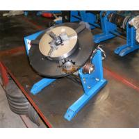 Pipe Round Small Welding Table Hand Wheel With Foot Pedal 300kg 600mm