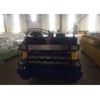 Cheap 5.5kw Glazed Metal Roofing Machine Roof Panle Roll Forming Machine With 13 Rollers Rows for sale