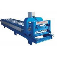 Cheap High Power Roof Panel Roll Forming Machine 3 Phases With 1 Inch Chain Size 4kw power for sale