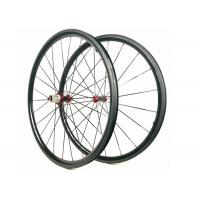Cheap 30MM*25MM Carbon Road Wheels  Dimple Brake Surface 700C Tubuless / Clincher for sale