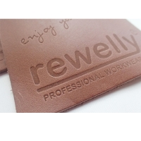 Cheap ODM Embossed Logo Genuine Leather Patches For Clothing And Hats for sale
