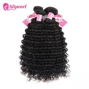 3 Pcs Brazilian Human Hair Bundles Deep Wave , Brazilian Remy Hair Extensions