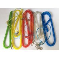 Quality Steel Wire Core Spiral Fishing Pole Leash , Strong Spiral Spring Coil Lanyard wholesale