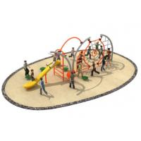 Cheap 710*350*250cm Rope Climbing Playground Equipment Middle Size With Slide TQ-TN504 for sale