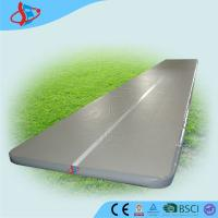Cheap 10 Meters Gray Tumble Gymnastics Air Mat Safe For School CE / UL for sale