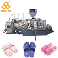 Cheap Rotary 2 Color PVC PCU Slipper Making Machine With Air Blowing System for sale