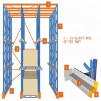 Cheap Industrial Drive In Drive Through Racking System Heavy Duty Steel Q235 Material for sale