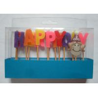 Mix Colors Funny Happy Birthday Alphabet Toothpick Candles For Girls' Party Manufactures