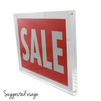Cheap Plexiglass Clear 11 x 17 Acrylic Sign Holders Wall Mount For Advertising Display for sale