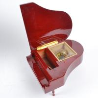 Cheap Red Piano Wooden Music Box with Yunsheng Musical movement for Birthday Gift/Musical Box for sale