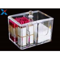 Transparent Square Acrylic Box , Acrylic Cotton Box Lipstick Display Stand
