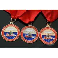 Cheap Rowing Gifts Competition Medals And Medallions Sports Day Medals With Red Ribbon for sale