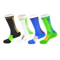 Cheap Spandex / Elastane Green Athletic Basketball Socks With Anti - Bacterial / Anti - Slip Materials for sale