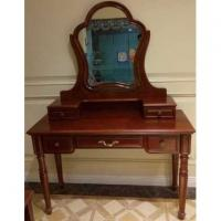 Cheap antique dressing table wooden dressers table with drawers for sale