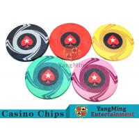 Cheap Ceramic Casino Poker Chips , Poker Chips And Cards With Dynamic Textures Design for sale