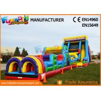 Buy cheap 0.55mm PVC Tarpaulin Commercial Blow Up Slide / Vertical Rush Inflatable from wholesalers