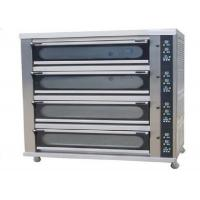 Cheap 4 Deck 8 Trays Commercial Baking Oven Digital Display Ceramic Heating Deck Oven for Bread for sale