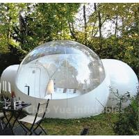 Cheap Outdoor Inflatable Camping Bubble Tent with 2 tunnels for sale