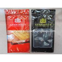 Cheap Resealable Plastic Cigar Bags With Humidity Controlled System For Nicaragua Cigars / Dominica Cigars for sale