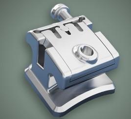 Dental Orthodontic Instruments Metal Self - Ligating Bracket