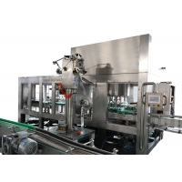 Cheap SUS316 PE Bottled Multihead Hot Filling Machine with Surface dosing device for sale