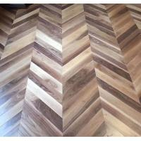 Cheap Chervon American Walnut Engineered Wood Flooring, C grade and natural color lacquered for sale