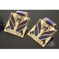 Cheap Royal 10K And 15K Custom Design Logo Sports Metal Medal, Soft Enamel Colors With Sublimated Ribbon for sale