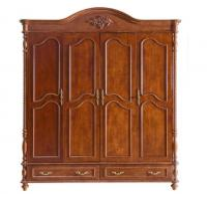 Cheap latest 4 door bedroom wardrobe solid wood wardrobe design for sale