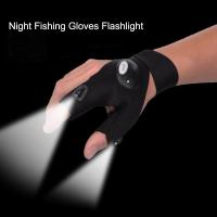 Cheap Gloves with LED Light Hunting Outdoor Fingerless Fishing Camping Hiking Survival for sale