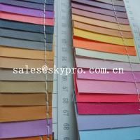 Cheap Smooth PU Synthetic Leather / PVC Synthetic Leather Material For Making Bags for sale