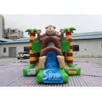 Cheap Outdoor kids commercial jungle monkey inflatable combo in monkey theme park for jumping from Sino factory for sale