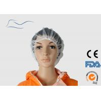 Cheap Anti Dust Fine Mesh Hair Nets , White Color White Disposable Head Covers for sale
