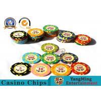 Cheap 11.8g Colorful Casino Poker Chips And Cards / Custom Plaque Stickers for sale