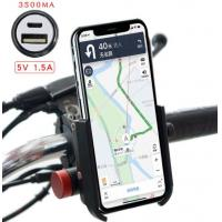 Cheap Aluminium Phone Holder For Motorcycle Cell Phone Holder With 3500MA Power Bank for sale