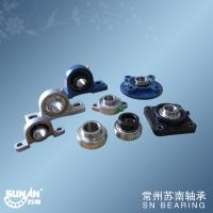 Chrome Steel Gcr15 Ball Bearing Unit With Set Screws Locking Or Eccentric Locking Collar