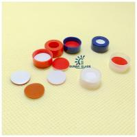 Cheap 11mm Snap-top cap, 6.0mm centre hole/White PTFE/Red Silicone septa for sale