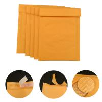 Cheap #000 4x8 Secure self-seal Golden Yellow Kraft Bubble Padded Mailers for shipping mailing supplies for sale