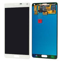 White Mobile Phone LCD Display / Samsung Note 4 LCD Digitizer